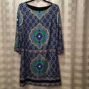 Laundry by Shelli Segal Printed Shift Dress, Sz M